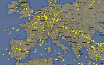 Rotas dos aviões em