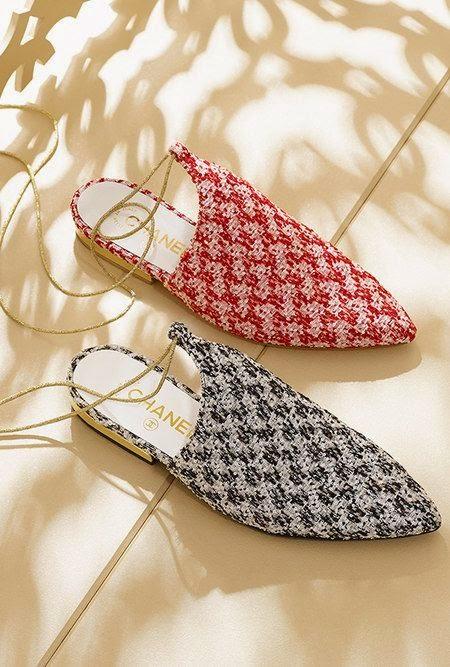 Glitter tweed slippers CHANEL -  Tendência Primavera Verão 2015