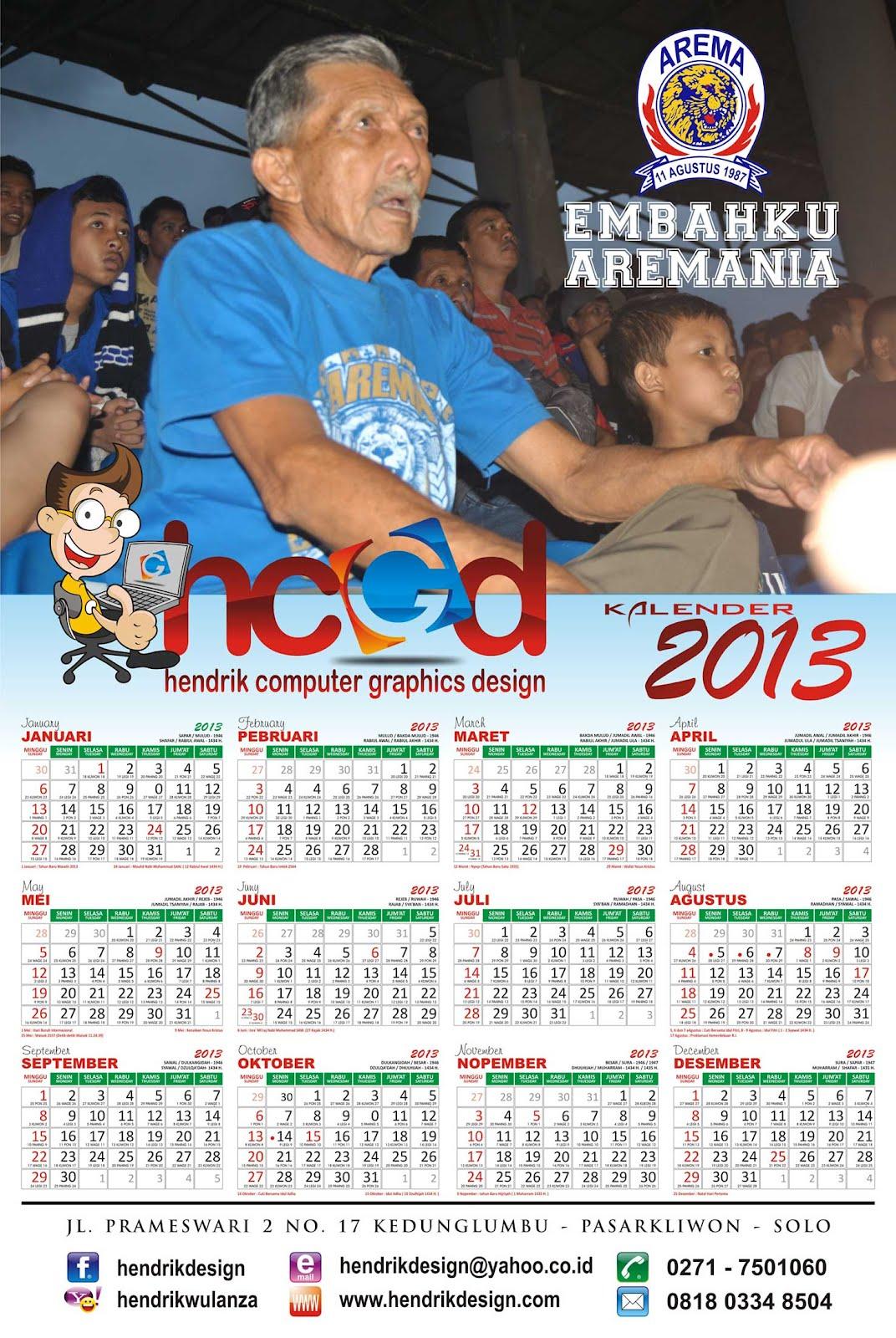 Free Download Kalender 2013 editabel CorelDRAW