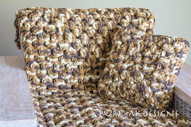 плед из толстой пряжи вязание толстым крючком