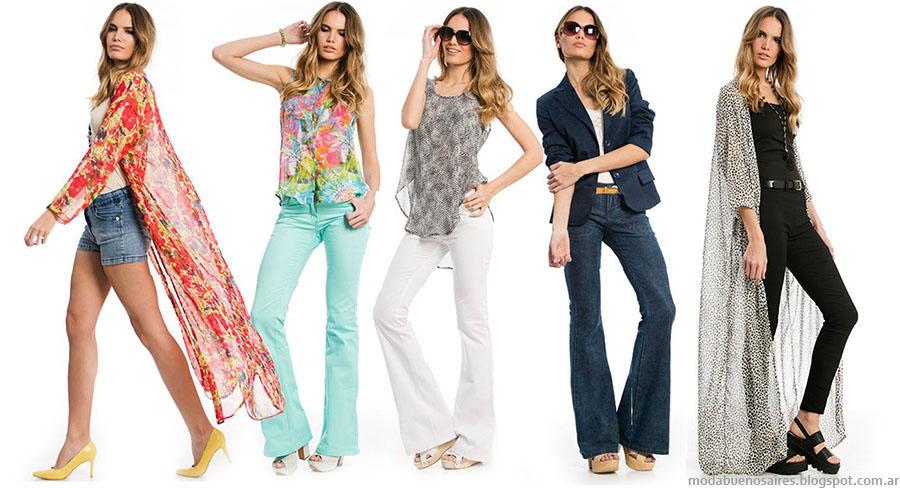 Moda 2016 Moda primavera verano 2016 pantalones oxford y kimonos largos. Moda 2016 ropa