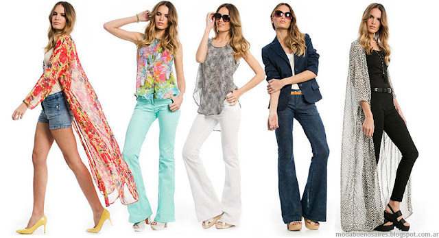 Moda 2016: Moda primavera verano 2016 pantalones oxford y kimonos largos. Moda 2016 ropa de mujer City Argentina.