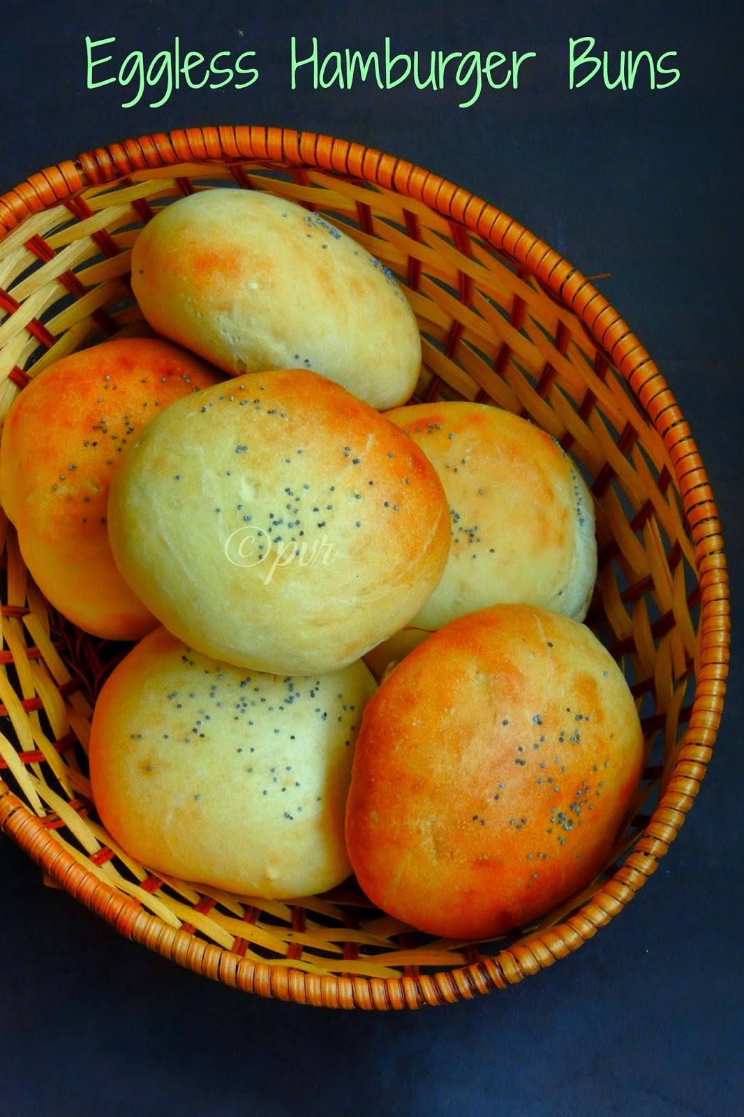 Eggless Hamburger Buns, Hamburger buns without eggs, Homemade burger buns