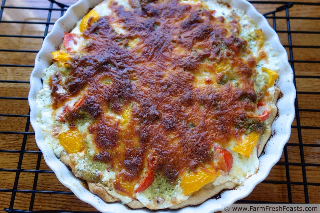... : Heirloom Tomato and Garlic Scape Pesto Tart {Get to Know a Farmer