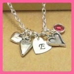 Heart Birthstone Trinket Necklace