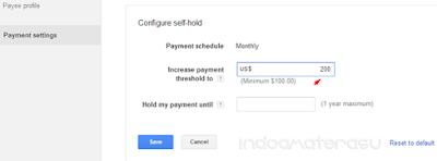 Payment Settings AdSense