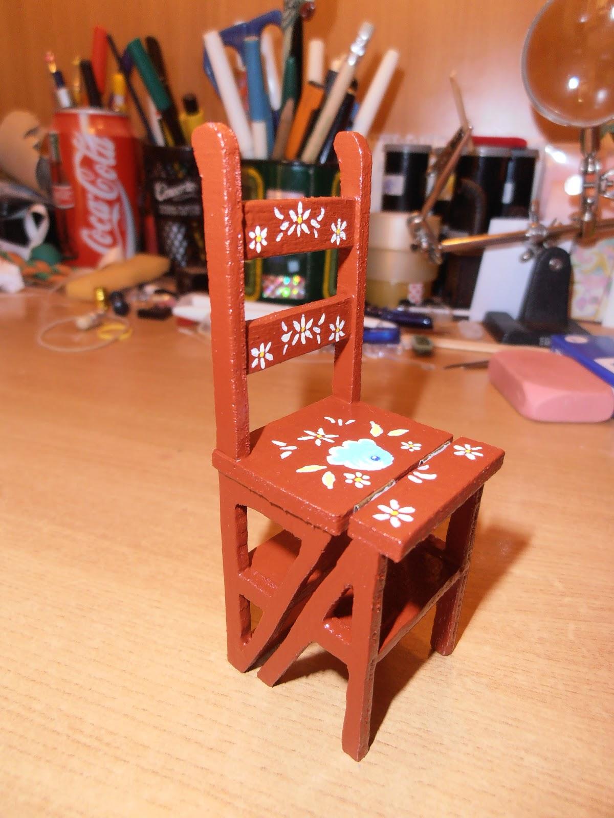 Cositas de casitas silla escalera for Silla escalera plegable planos