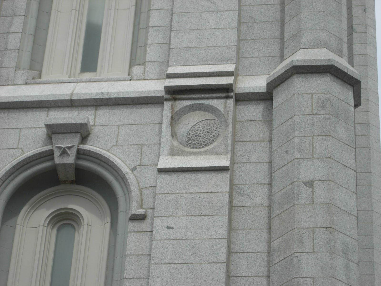 The Mormon Eagle Salt Lake Temple Stone Symbols
