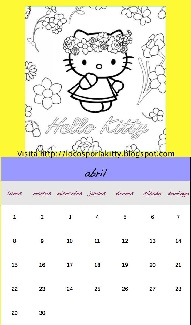 ... de Hello Kitty en abril y en breve te traeremos el calendario del mes