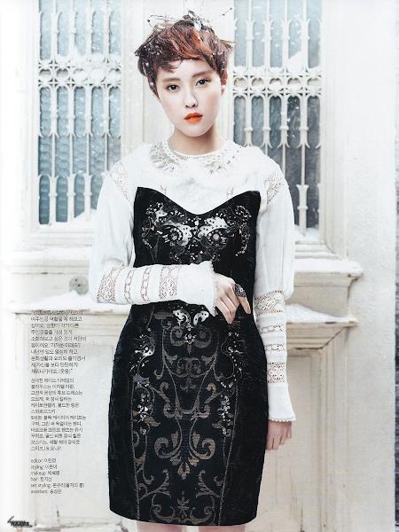 Foto T-ara Hyomin Untuk Majalah inStyle Magazine Edisi Januari 2013