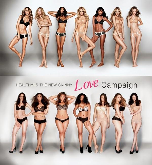 victoria secrets vs dove mulheres magras e gordas