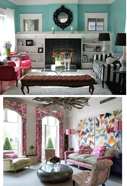 salas de estar coloridas