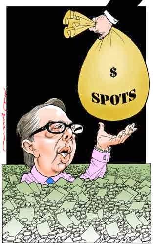 Caricatura Televisa con dinero