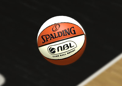 NBA 2K13 Spalding NBL White & Orange Ball Mod
