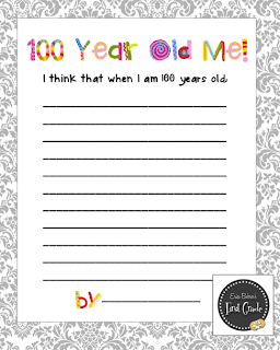 100th day writing paper