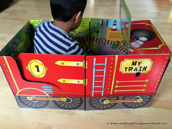Convertible Train Playmat and Book