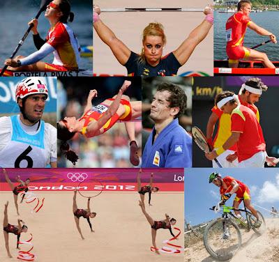 Diplomas olímpicos para España en Londres 2012