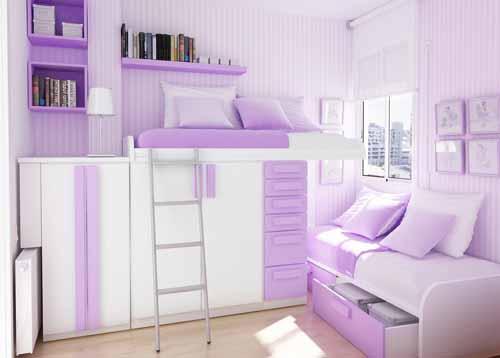 Dormitorios juveniles en color lila decoraci n de interiores for Cuartos para ninas preadolescentes