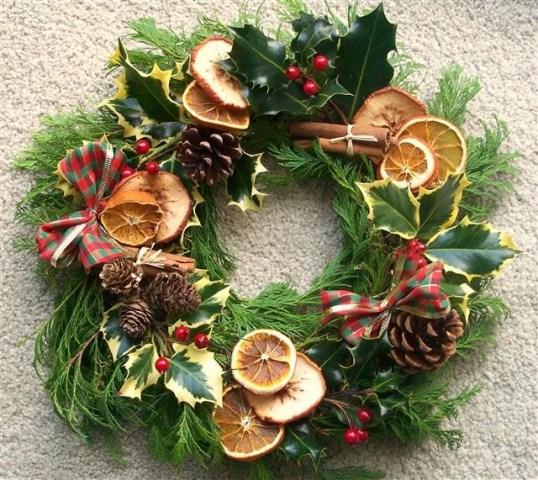 Les cosetes de dudu decoraci 211 n de navidad con rodajas de naranja y