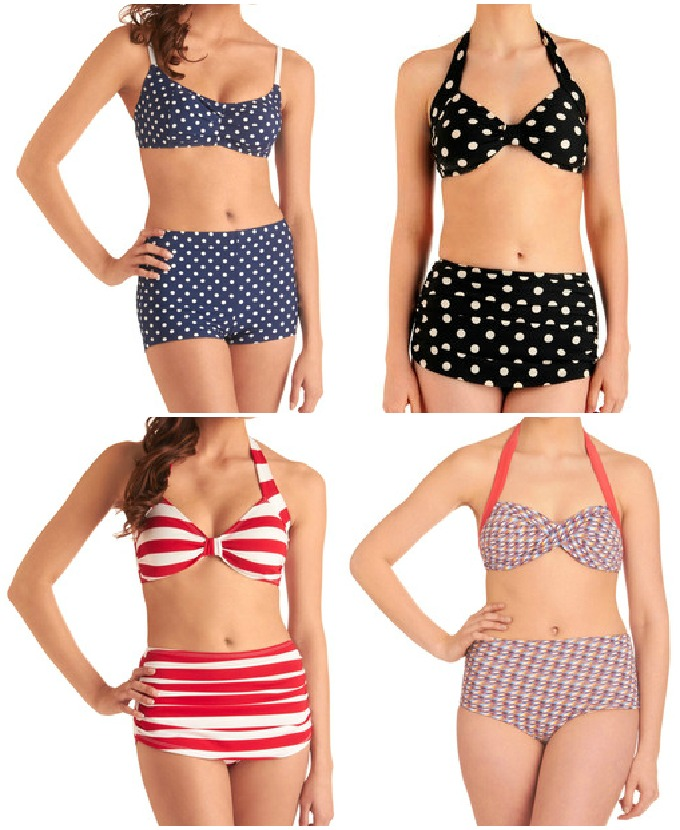 Cute High Waist Swimsuits UK
