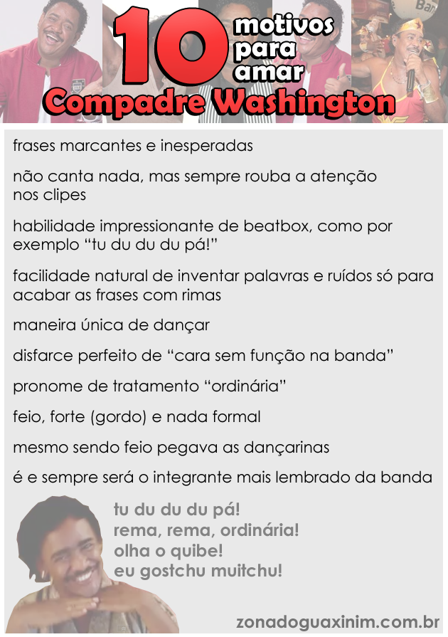 10 motivos para amar Compadre Washington