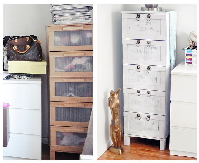 Ikea Glasvitrine Mit Beleuchtung ~ Boring Birch Ikea Chest of Drawers Makeover From Drab to Fab ~ Get