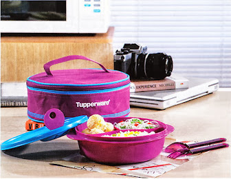 CRUSTAL WAVE LUNCH SET TUPPERWARE