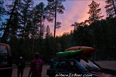 The boys finishing up another evening lap, enjoying cold beers and another amazing sunset, CO colorado, vallecito, chris baer