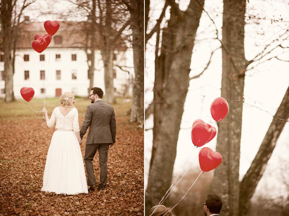 Bryllupsbilder fra gammelt slott i sverige, fotograf trine bjervig