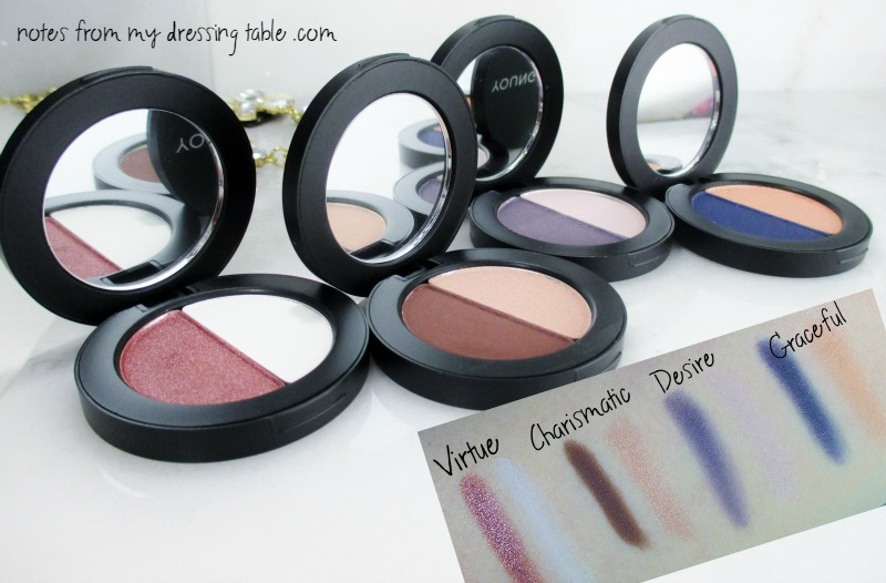 Youngblood Perfect Pair Mineral Eye Shadow Duos Swatches notesfrommydressingtable.com