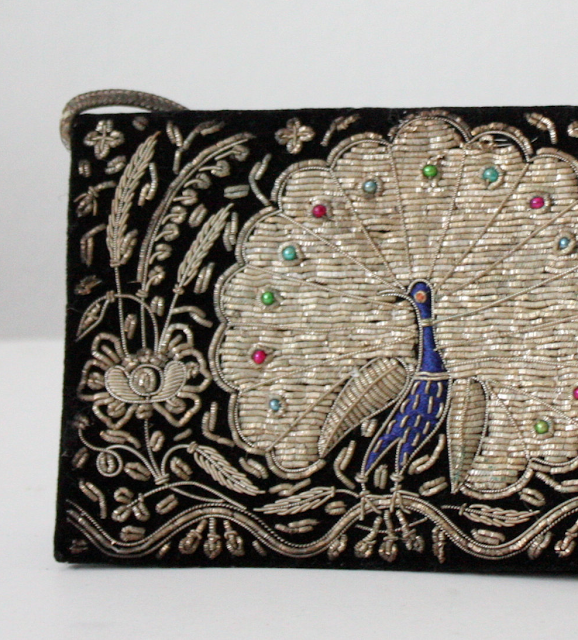 1940s Beaded Peacock Clutch #40s #accessory #1940s #purse #vintage