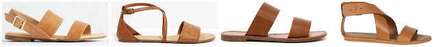 One of these pairs of sandals is from Woman by Common Projects for $475 and the other three are under $35. Can you guess which are the designer pair? Click the links below to see if you are correct!