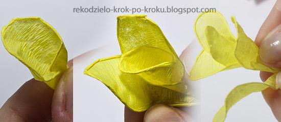 Jak Zrobi   Kwiat Z Bibu  Y Krok Po Kroku   How To Make A Flower Out
