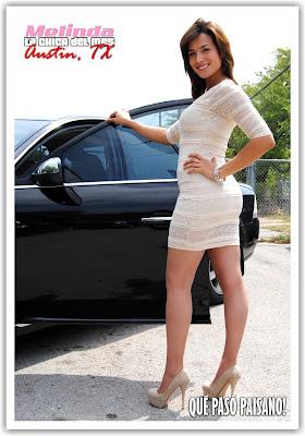 Qu pas paisano magazine melinda la chica sexy de mayo for Red barn motors austin