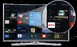 Uusissa kaarevissa televisioissa Tizen käyttöjärjestelmä