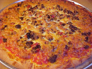 Pizza au boeuf haché et aux légumes