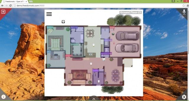 برنامج مجاني لبناء وإدارة الأنظمة الآلية والذكية للمنازل والشركات Freedomotic 5.6