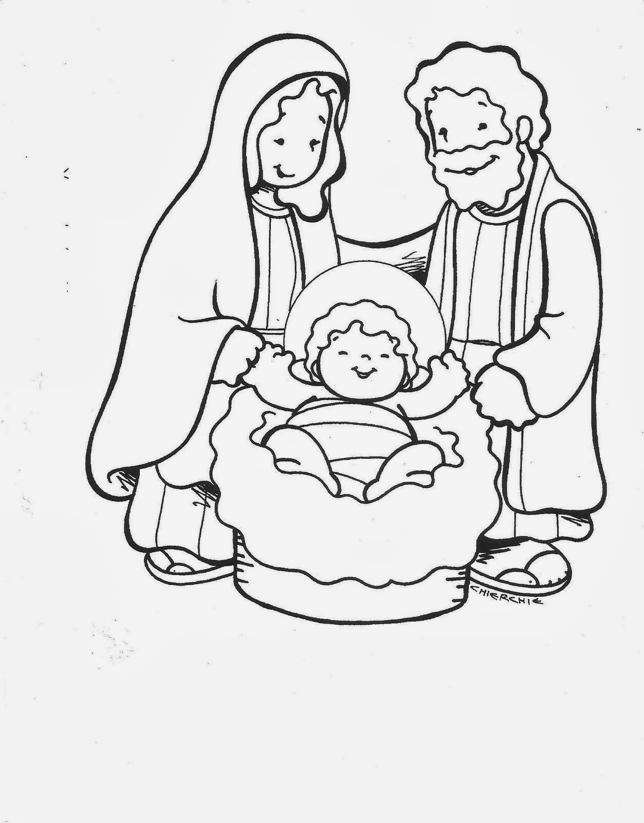 de la familia sagrada en el belen para colorear dibujos para MEMES ...