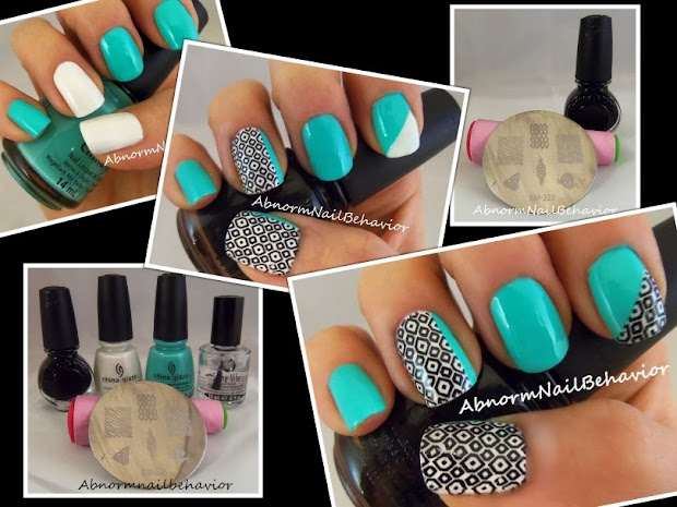 abnorm nail behavior teal geometric