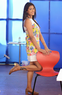 Actress Pooja Jhaveri Latest Picture Shoot Gallery in Floral Short Dress  002.JPG