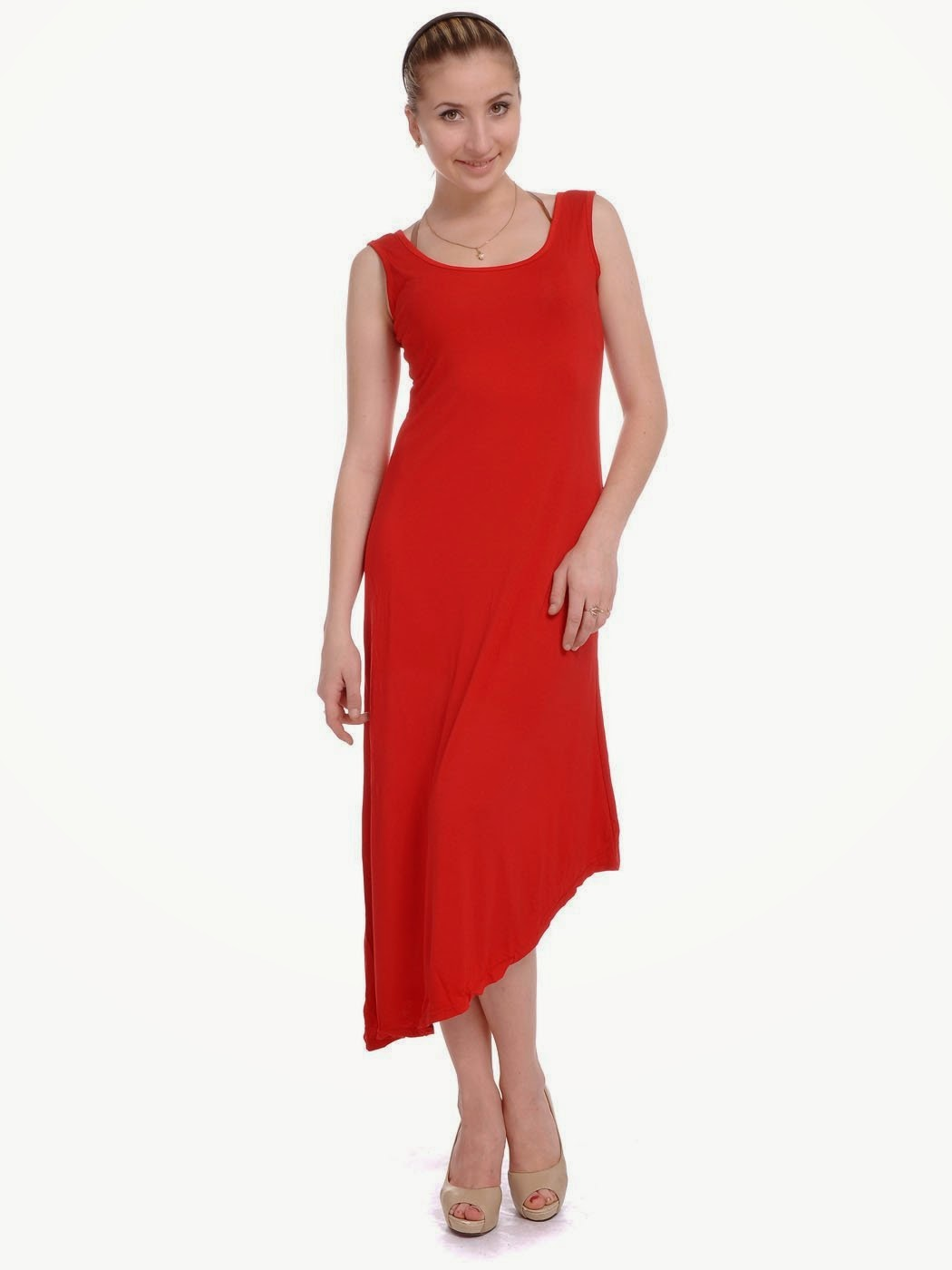 Cocktail Dresses 2014: Cute Red Asymmetrical Cocktail Dresses 2014