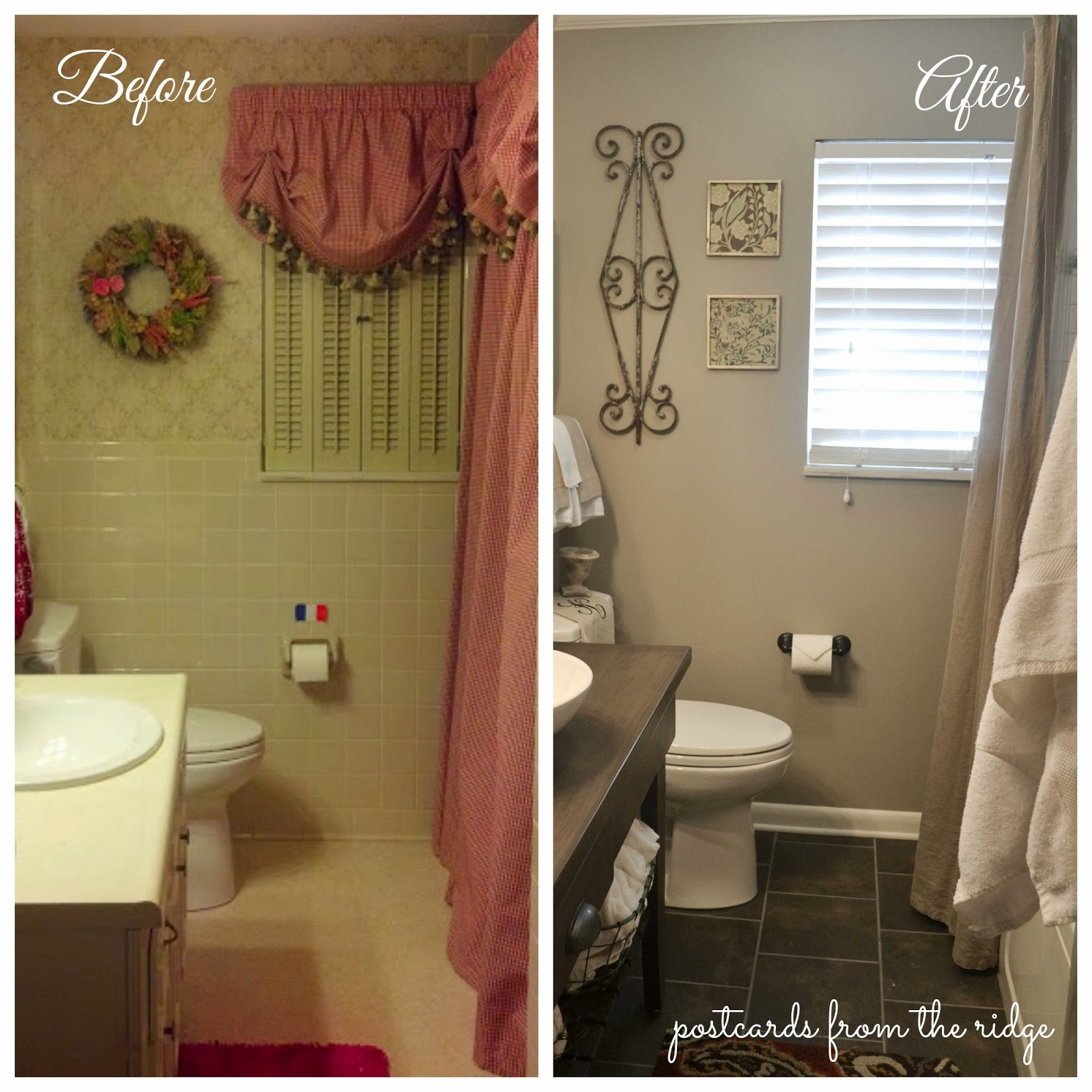 An amazing transformation of a 1964 bathroom from drab to fab.  Lots of great bathroom remodeling ideas.