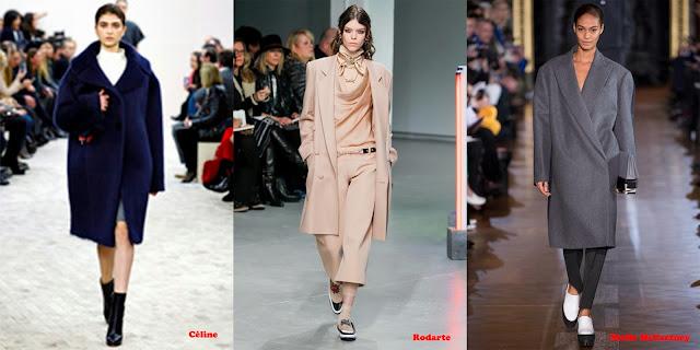 Tendencias mujer otoño/invierno 2013/14 abrigo masculino: Céline, Rodarte y Stella McCartney