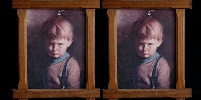 Lukisan Anak Kecil Menyeramkan, Dapat Menimbulkan Kebakaran