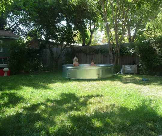 Galvanized Stock Tanks In The Garden Thinking Outside