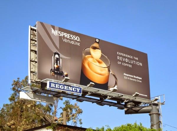Nespresso VertuoLine billboard