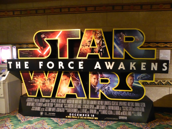 Star Wars Force Awakens cinema standee