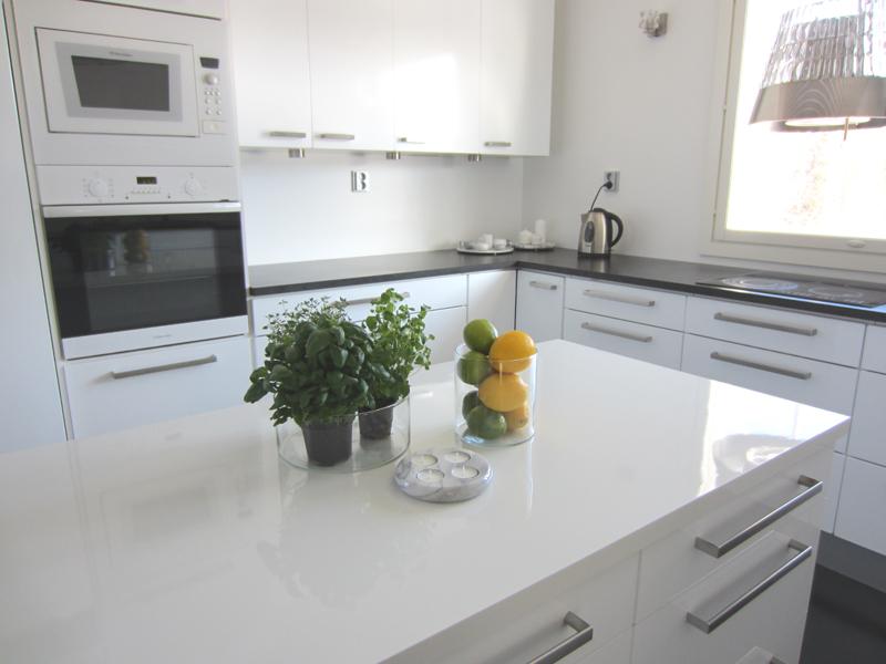 Keittiö, sitruuna ja marmori  Taloja ja Toiveita