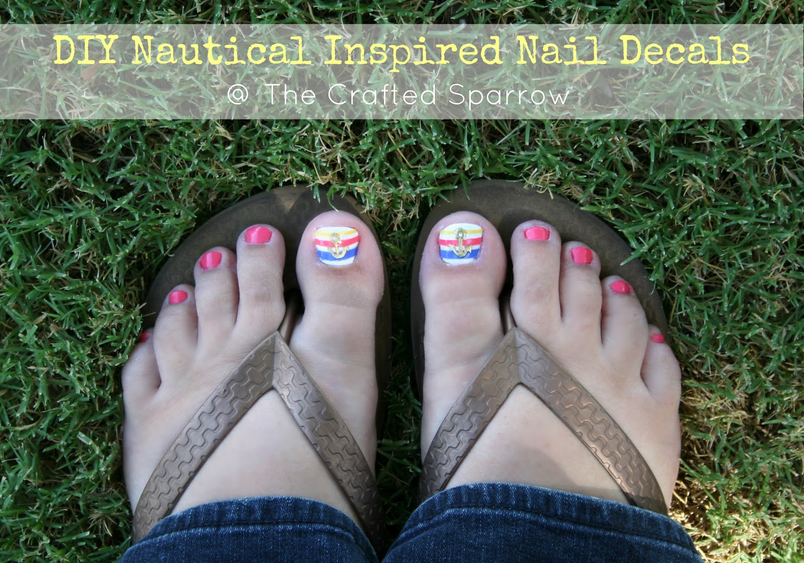 DIY Nautical Inspired Nail Decals - The Crafted Sparrow