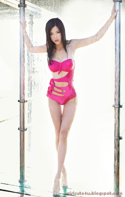 Li-Ying-Zhi-Magenta-Monokini-02-very cute asian girl-girlcute4u.blogspot.com